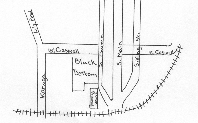 Black Bottom Neighborhood Map