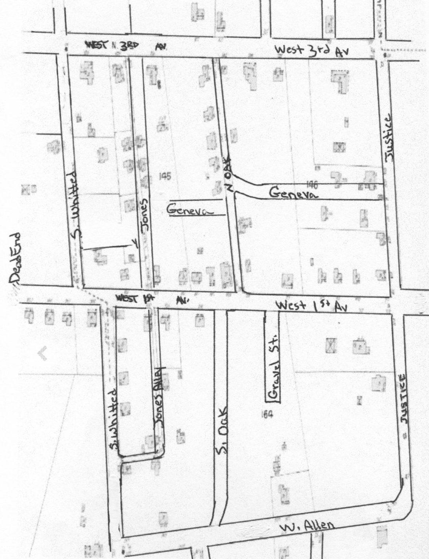 Peacock Town Neighborhood Map