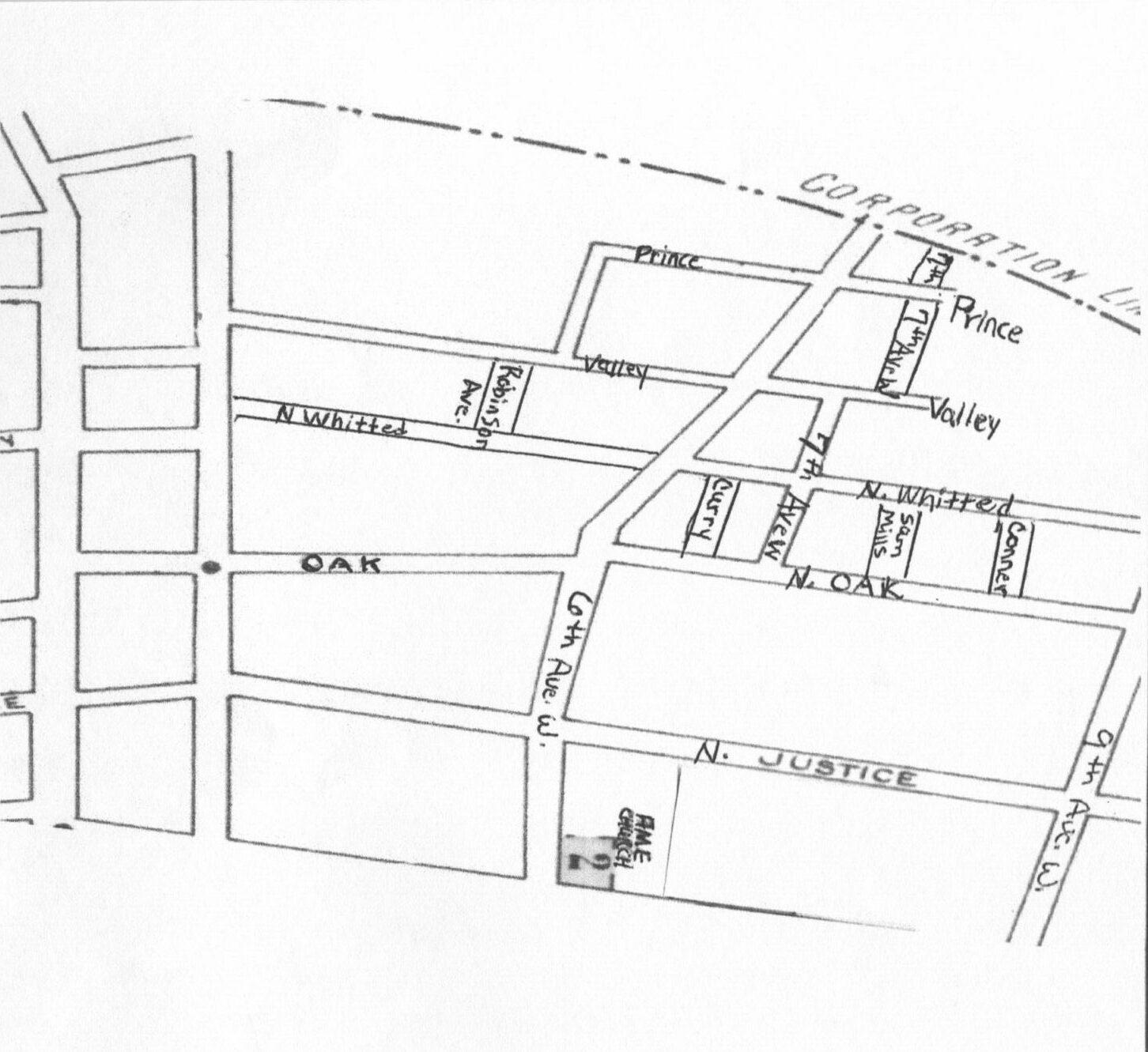 West End Neighborhood Map